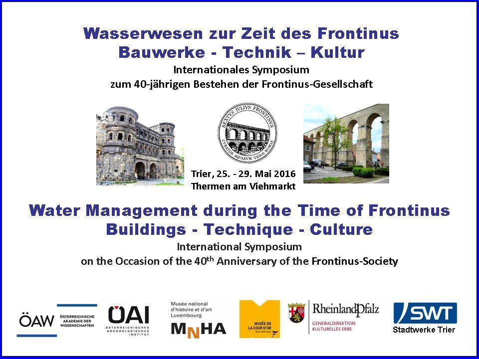 Jubiläums-Symposium der Frontinus-Gesellschaft in Trier